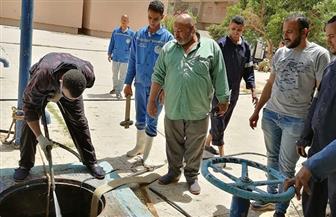 تطهير وتعقيم الخزانات الأرضية لمحطات المياه بمحافظة الأقصر   صور