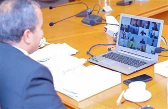 جامعة السويس تعقد مجلسها بالفيديو كونفرانس|صور