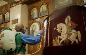 النائب أبو العينين ينظم حملة لتطهير مساجد وكنائس جنوب الجيزة  |صور