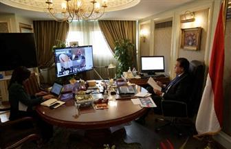 وزير التعليم العالي يشارك في حوار افتراضي لبحث أزمة فيروس كورونا | صور