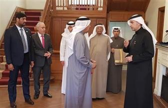 وزير الخارجية البحريني يزور مقر سفارة مملكة البحرين بالقاهرة
