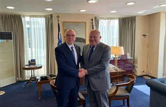 سفير مصر في اليونان يلتقي نائب وزير الخارجية اليوناني للشئون الاقتصادية