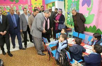 محافظ كفرالشيخ يتفقد سير العملية التعليمية بمدرسة أحمد عرابي الابتدائية | صور