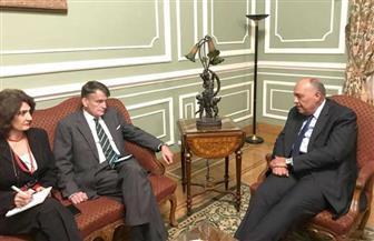 """شكري يؤكد دعم مصر لجهود """"الأونروا"""" في تخفيف معاناة اللاجئين الفلسطينيين"""