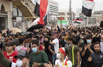 متظاهرون عراقيون يقطعون طرقا في البصرة للمطالبة بتسمية مرشح للحكومة