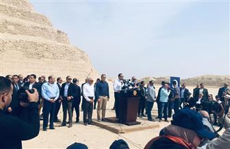 رئيس الوزراء: 104 ملايين جنيه تكلفة تطوير منطقة آثار سقارة| صور