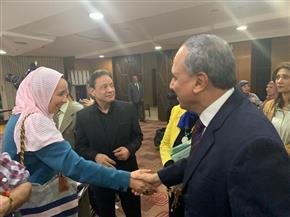 جبر وسلامة يتفقدان سير انتخابات مجلس الإدارة والجمعية العمومية بالأهرام| صور