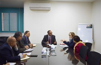 لمناقشة موقف برنامج تحسين خدمات مياه الشرب.. وزير الإسكان يلتقى ممثلى بنك التعمير الألماني |صور