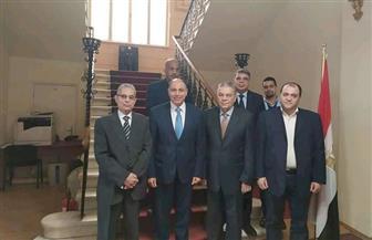سفير مصر في صوفيا يستقبل عددا من أعضاء الجالية المصرية فى بلغاريا