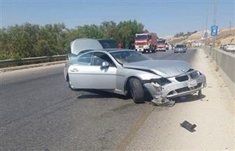 إصابة عامل وزوجته في حادث سيارة على الطريق الصحراوي الشرقي بسوهاج