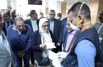 3 وزراء يتفقدون الحجر الصحي بمطار الأقصر | صور