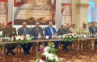 محافظ القاهرة يشهد حفل تكريم 25 شهيد بحضور أسرهم | صور