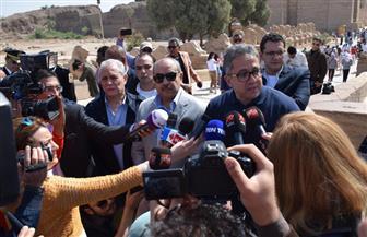 وزراء السياحة والصحة والطيران يتفقدون معبد الكرنك | صور