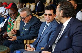 وزير الرياضة والجنايني يدعمان بيراميدز أمام زاناكو في الكونفدرالية الإفريقية | صور