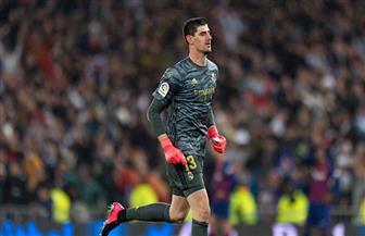شكوك حول لحاق حارس ريال مدريد في مواجهة السيتي