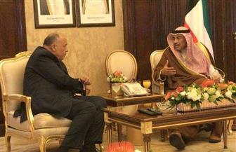 سامح شكرى يلتقي رئيس مجلس الوزراء ووزير الخارجية الكويتيين | صور