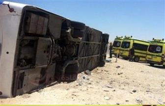 تماثل 19 سائحًا للشفاء في حادث انقلاب أتوبيس سياحي بجنوب سيناء