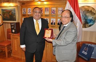 ماجد نجم يستقبل نائب رئيس جامعة Saitama اليابانية | صور