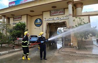 استمرار حملات تطهير وتعقيم شوارع محافظة كفر الشيخ | صور