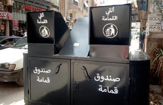 محافظ الغربية: تصميم هندسي جديد لصناديق القمامة يمنع تراكم المخلفات بأماكن التجميع بالشوارع| صور