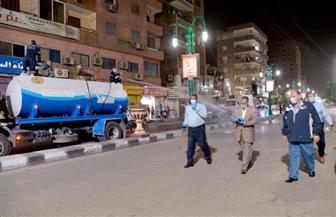 محافظ أسيوط يترأس حملة مسائية لرش وتطهير شوارع وميادين حي شرق وغرب لمواجهة فيروس كورونا| صور