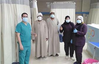 مستشفى إسنا للعزل الصحي: خروج 5 حالات من المصابين بكورونا بعد تماثلهم للشفاء | صور