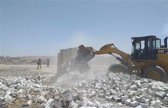 إزالة 15 تعديا على 2000 متر من أملاك الدولة بالبحيرة
