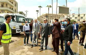 محافظ كفر الشيخ يشرف علي تعقيم الشوارع ضد كورونا | صور