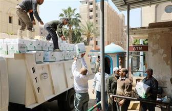 توزيع 5 آلاف كرتونة مواد غذائية على العمالة غير المنتظمة وأسر العزل المنزلى بالمنوفية| صور