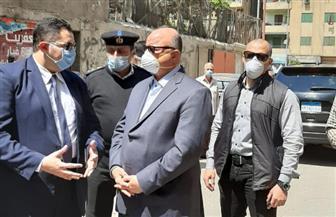 محافظ القاهرة يشرف على إزالة مخالفات بناء في حدائق القبة