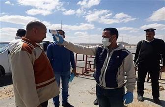 الكشف الحراري على القادمين إلى شمال سيناء بكمين صدر الحيطان | صور