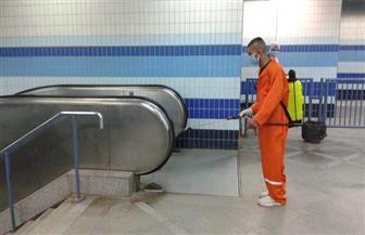 شركة المترو تواصل أعمال تطهير وتعقيم القطارات والمحطات | صور