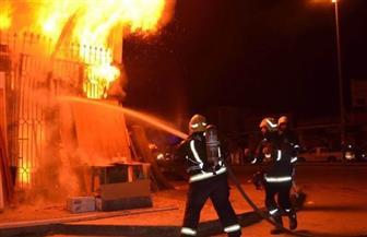 السيطرة على حريق في مخزن بنزلة السمان