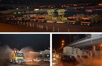 القوات المسلحة تقوم بأعمال التطهير والتعقيم الوقائي لموقفي عبود والمظلات| فيديو
