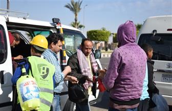 جهاز مدينة بدر يواصل حملات تطهير وتعقيم وسائل المواصلات للوقاية من فيروس كورونا | صور