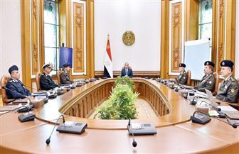 الرئيس السيسي يجتمع مع وزير الدفاع لمناقشة الإجراءات اللازمة لمواجهة انتشار فيروس كورونا
