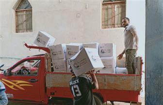 بمشاركة مديرية الأمن.. مساعدات غذائية لعدد من الأسر الفقيرة بمركز إهناسيا| صور