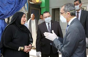 وزير الاتصالات يتفقد انتظام سير العمل في عدد من منافذ البريد في القاهرة والجيزة| صور