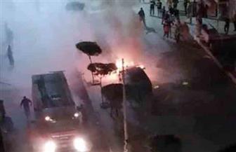 مجهولون يشعلون النار في سيارة ملاكي بكفر الشيخ | صور