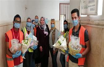 توزيع مستلزمات غذائية لتعزيز المناعة على الفرق الطبية بمستشفيات العزل والحجر الصحى بالغربية  صور