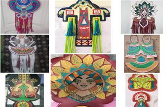 مشغولات فنية متميزة لطلاب كلية التربية الفنية بجامعة حلوان |صور