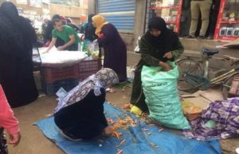 فض أسواق الجمعة بـ4 مراكز بالشرقية لمنع التجمعات|صور