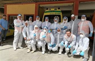 الفريق الطبي الأول بمستشفى العزل ببلطيم ينهي عمله بعد 14 يوما ويغادر وسط ترحيب وشكر الأهالي|صور