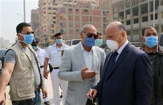 محافظ القاهرة يتفقد حملة إزالة العقارات المخالفة على جانبي محور الفريق العرابي في حي السلام | صور