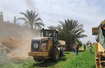 تنفيذ إزالة 27 حالة تعد على أملاك الري والأراضي الزراعية بسوهاج