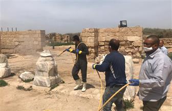 تطهير منطقة أبو مينا الأثرية بالإسكندرية لمواجهة انتشار كورونا   صور