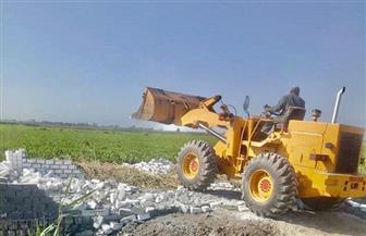 إزالة 22 حالة تعد على الأراضي الزراعية ومنافع النيل بسوهاج