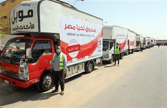 """""""تحيا مصر"""" يطلق 3 قوافل لرعاية أسر العمالة غير المنتظمة بالفيوم ودمياط وسوهاج   صور"""