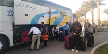 بعد انتهاء فترة الحجر الصحي.. 323 مواطنا من العائدين من أمريكا يغادرون مرسى علم | صور