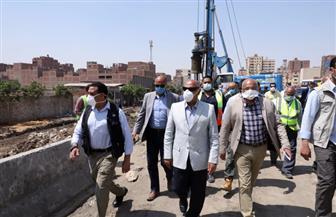 وزير النقل يتفقد أعمال تنفيذ المشروع المتكامل لتطوير الطريق الدائري حول القاهرة
